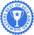 This award was given for receiving reviews with an average of 4 stars or higher in 2014.